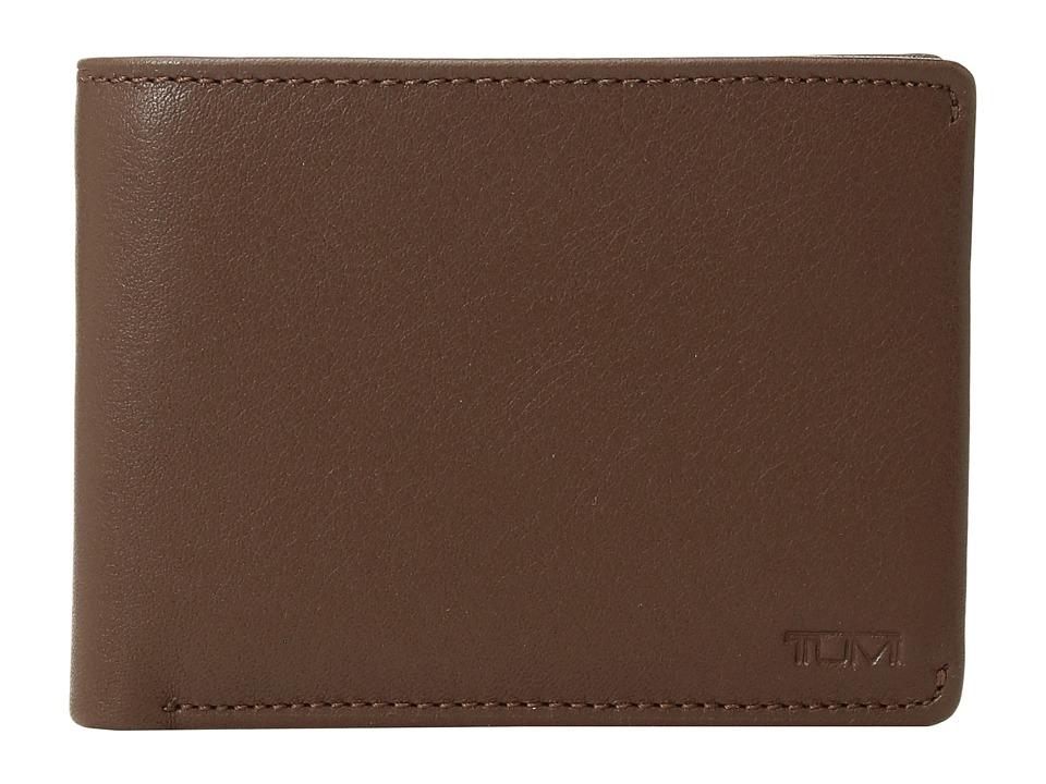 Tumi - Nassau Double Billfold (Brown Textured) Bill-fold Wallet