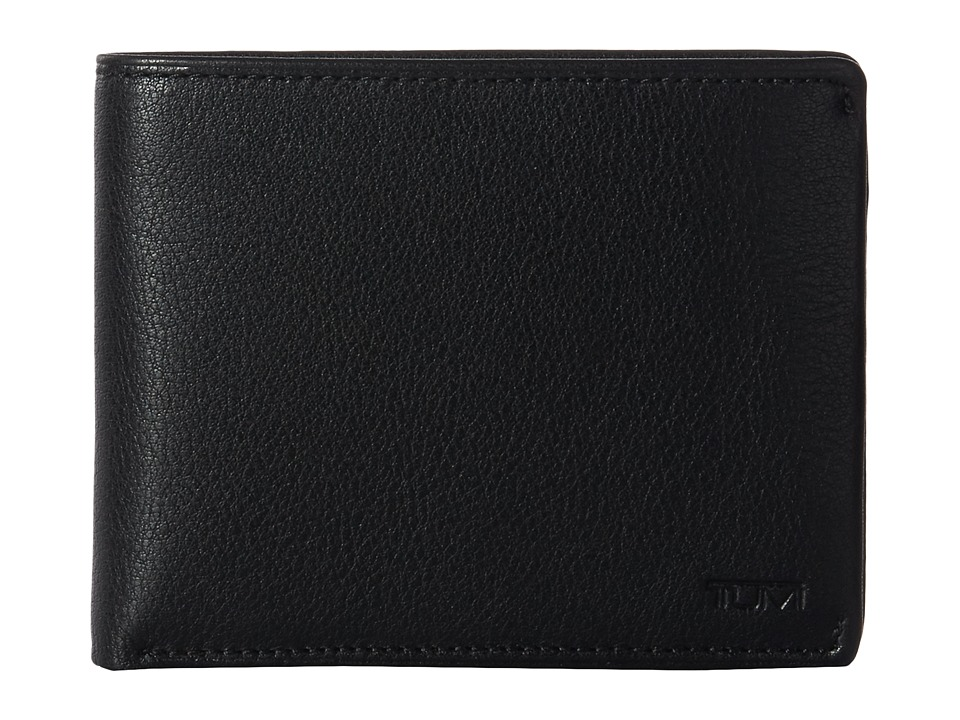 Tumi - Nassau Global Wallet with Coin Pocket (Black Textured) Coin Purse