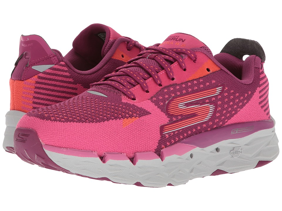 SKECHERS - Go Run Ultra R (Purple/Pink) Womens Running Shoes