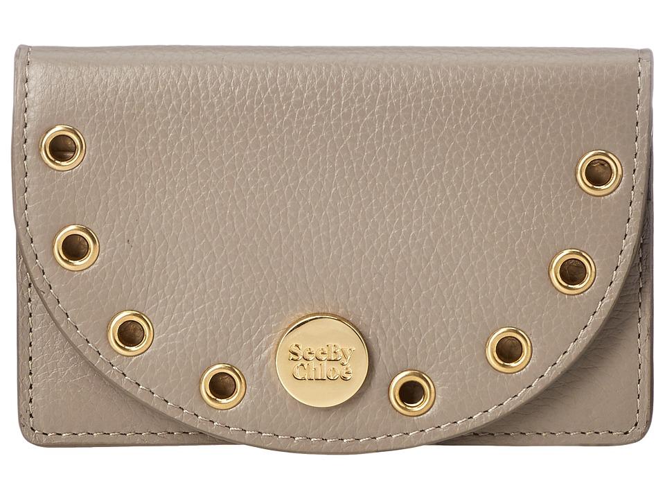 See by Chloe Kriss Wallet w/ Detatchable Card Case (Motty Grey) Wallet Handbags