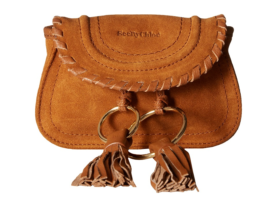 See by Chloe Polly Suede Bum Bag (Caramelo) Bags