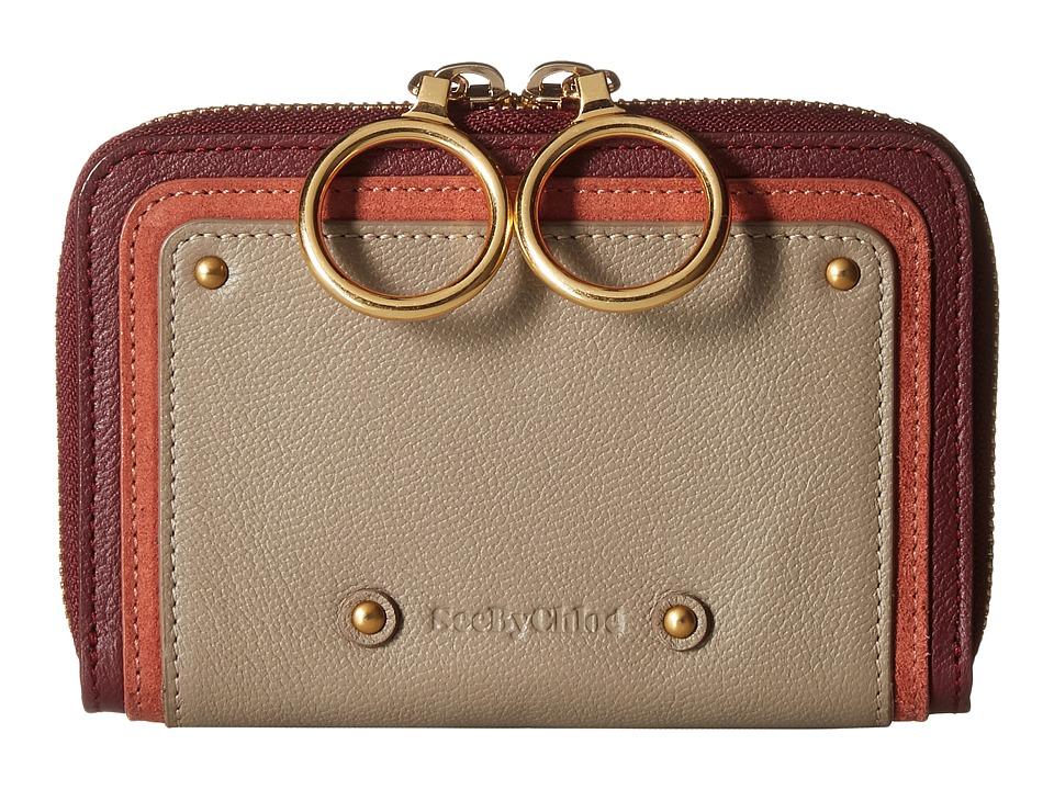 See by Chloe Small Zip Around Continental Wallet (Motty Grey) Wallet Handbags