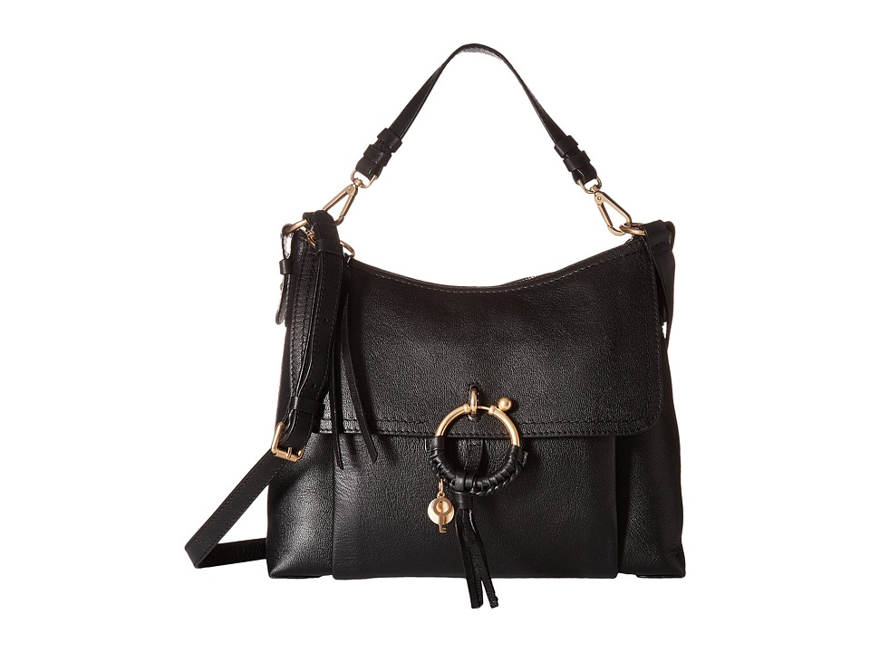 See by Chloe Joan Medium Leather (Black) Handbags