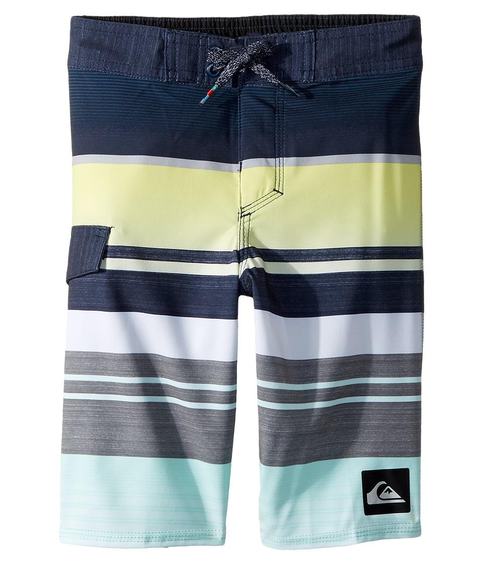 Quiksilver Kids Everyday Stripe 14 Boardshorts (Toddler/Little Kids) (Blue Light) Boy