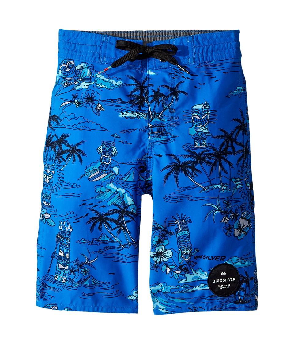 Quiksilver Kids Tiki Beachshorts (Toddler/Little Kids) (Electric Blue) Boy
