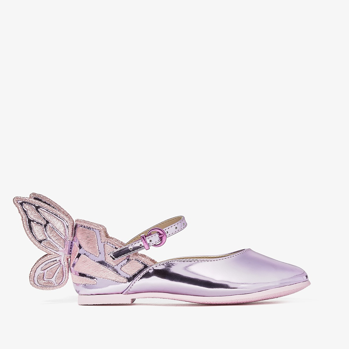 Sophia Webster - Chiara Embroidery (Toddler/Little Kid) (Rosa Metallic) Girls Shoes