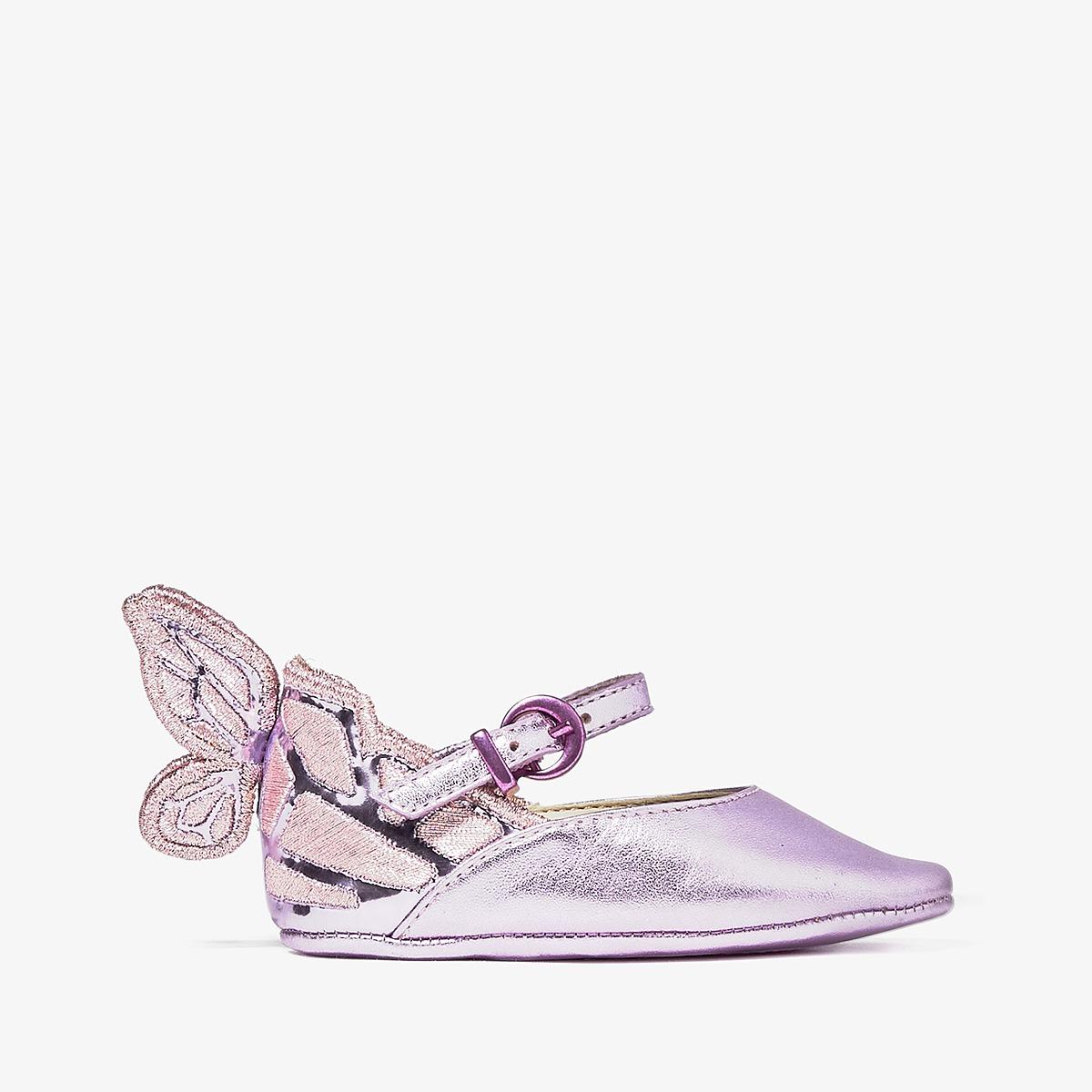 Sophia Webster - Chiara Embroidery (Infant) (Rosa Metallic) Girls Shoes