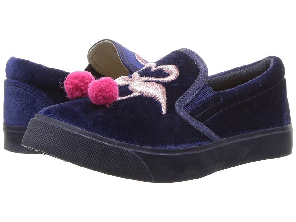 Sophia Webster - Kingston Flamingo Sneaker (Toddler/Little Kid) (Navy/Baby Pink) Girls Shoes