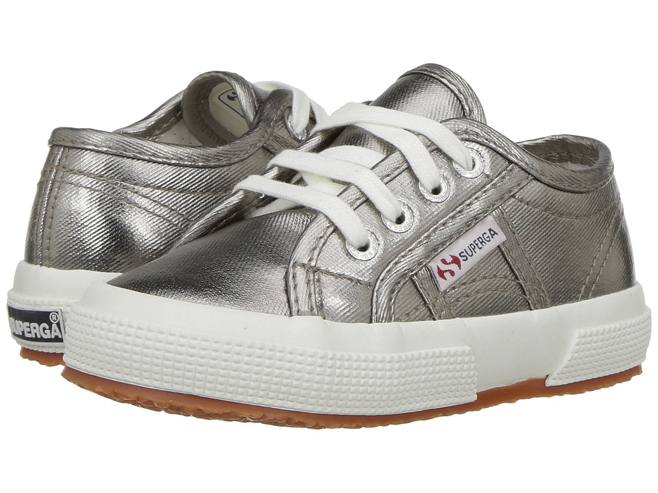 Superga Kids - 2750 Cotmetj (Toddler/Little Kid) (Grey) Kids Shoes