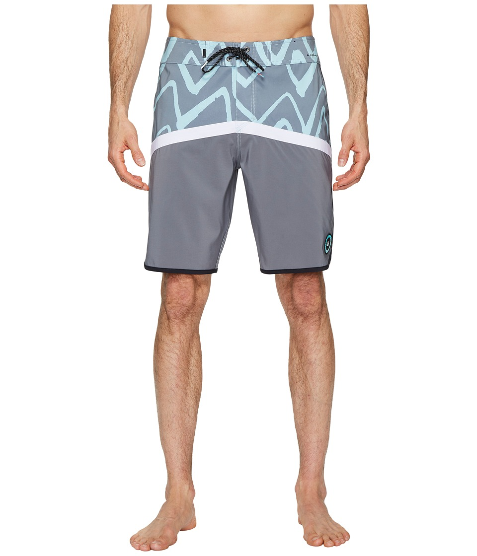 Quiksilver Highline Techtonics 20 Boardshorts (Eggshell Blue) Men