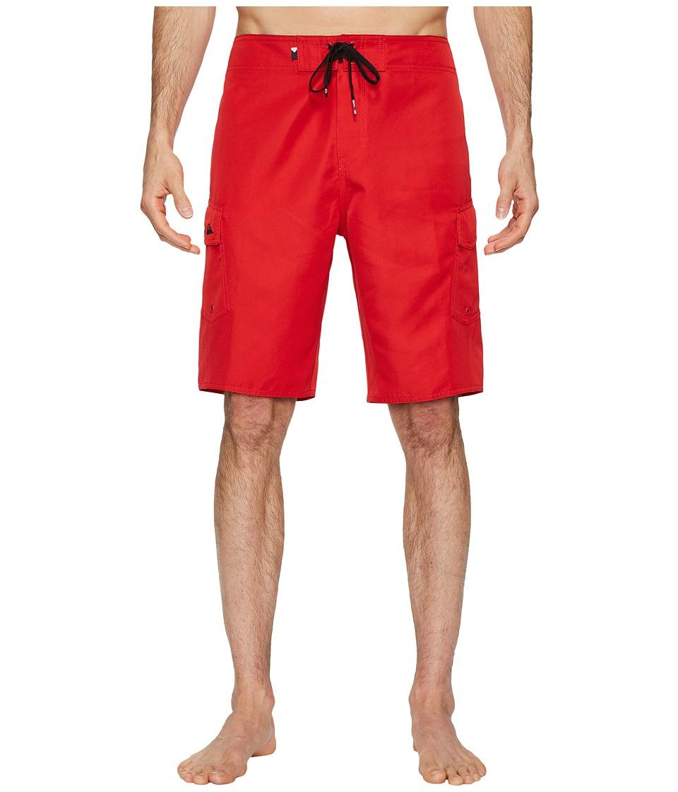 Quiksilver Manic Solid 21 Boardshorts (Red) Men