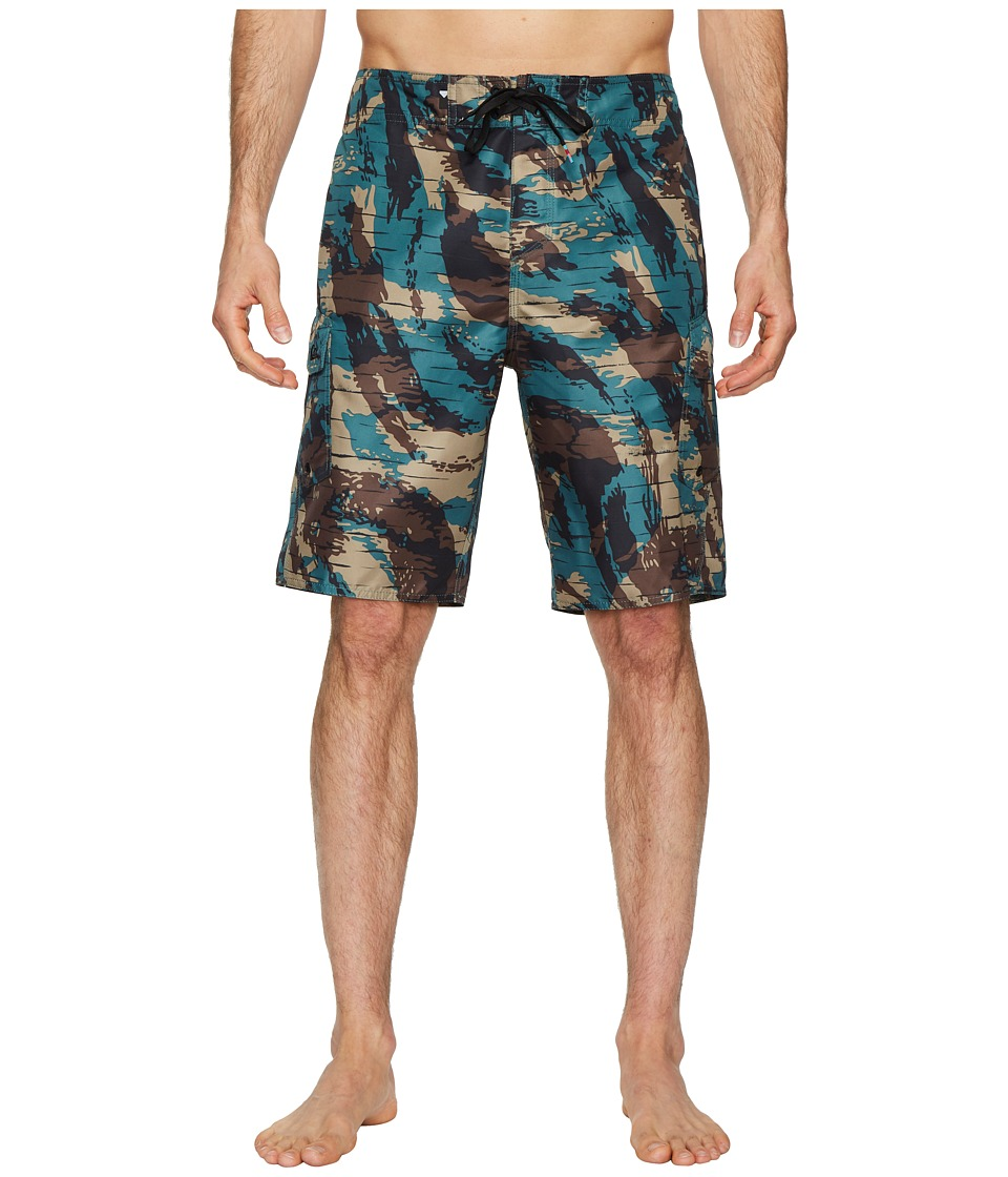 Quiksilver Manic Camo 21 Boardshorts (Mallard Green) Men
