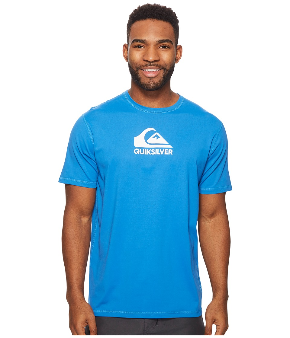 Quiksilver Solid Streak Short Sleeve Rashguard (Electric Blue) Men's Swimwear