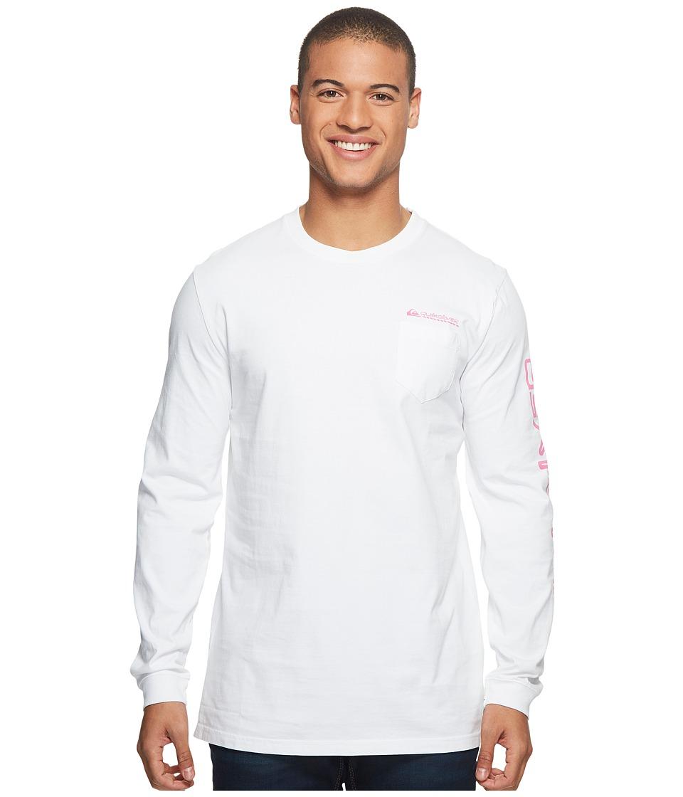 Quiksilver Omni Hazard Long Sleeve Tee (White) Men