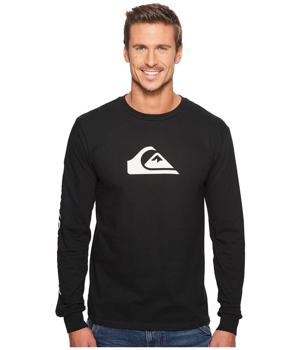 Quiksilver MW Logo Long Sleeve Tee (Black) Men