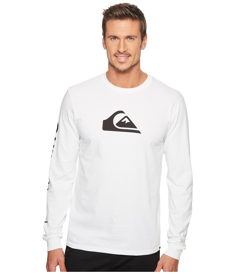 Quiksilver MW Logo Long Sleeve Tee (White) Men