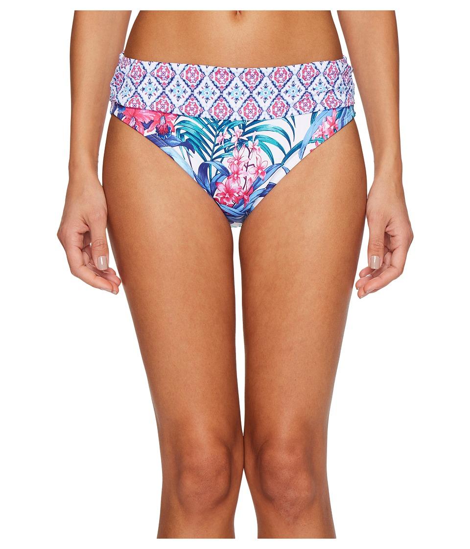 Tommy Bahama Majorelle Jardin High-Waist Sash Bikini Bottom (White) Women