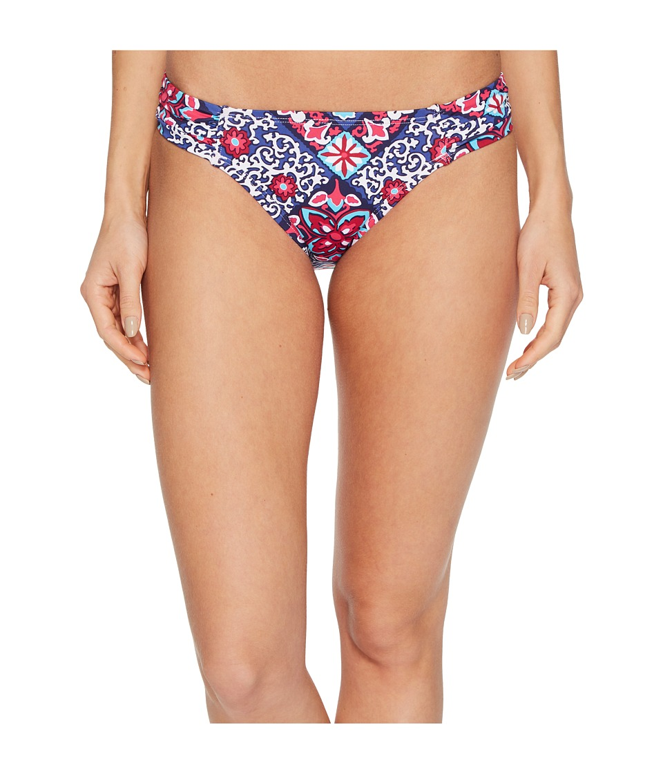 Tommy Bahama Persian Patchwork Side Shirred Hipster Bikini Bottom (Bright Fuchsia)