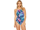Tommy Bahama Majorelle Jardin Reversible High-Neck One-Piece Swimsuit