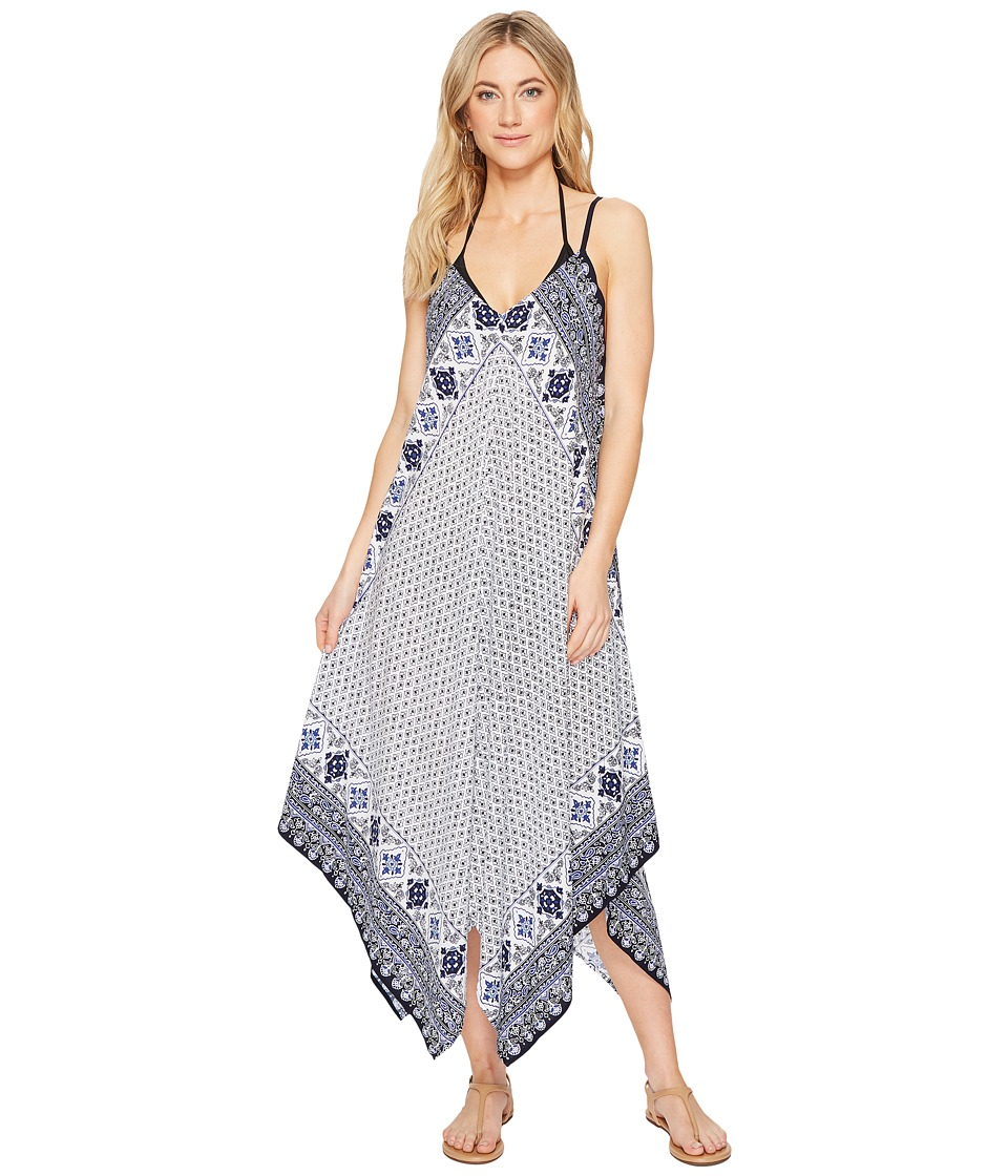 Tommy Bahama Tika Tiles Scarf Dress Cover-Up (Dark Sanibel Blue)