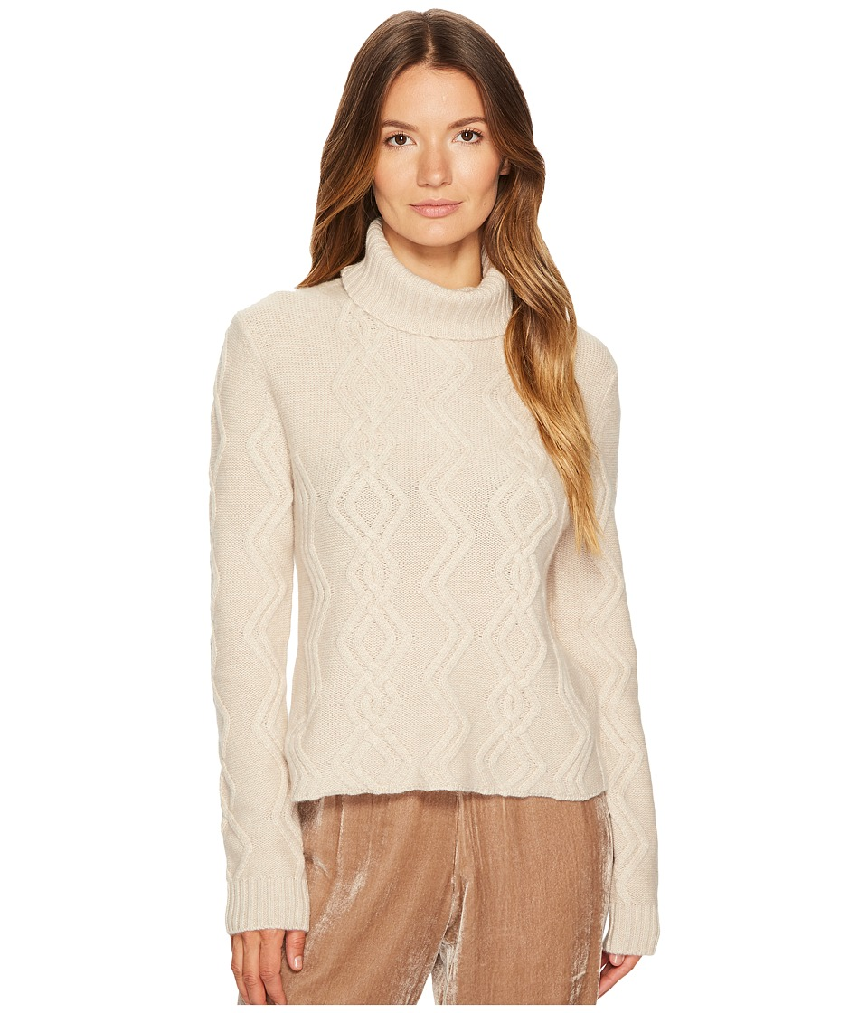 Cashmere In Love - Tess Cropped Cable Knit Pullover (Whea...