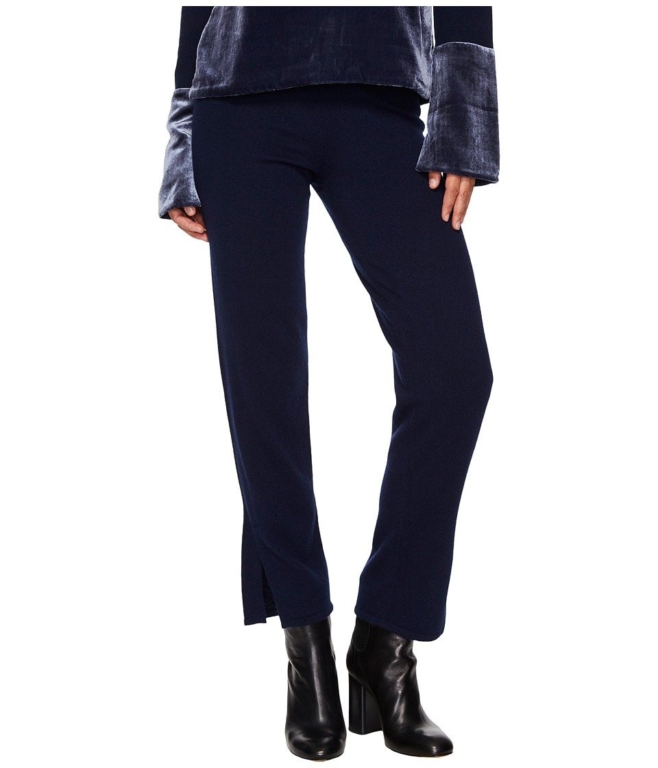 Cashmere In Love - Tina Straight Fit Knit Pants (Navy) Wo...