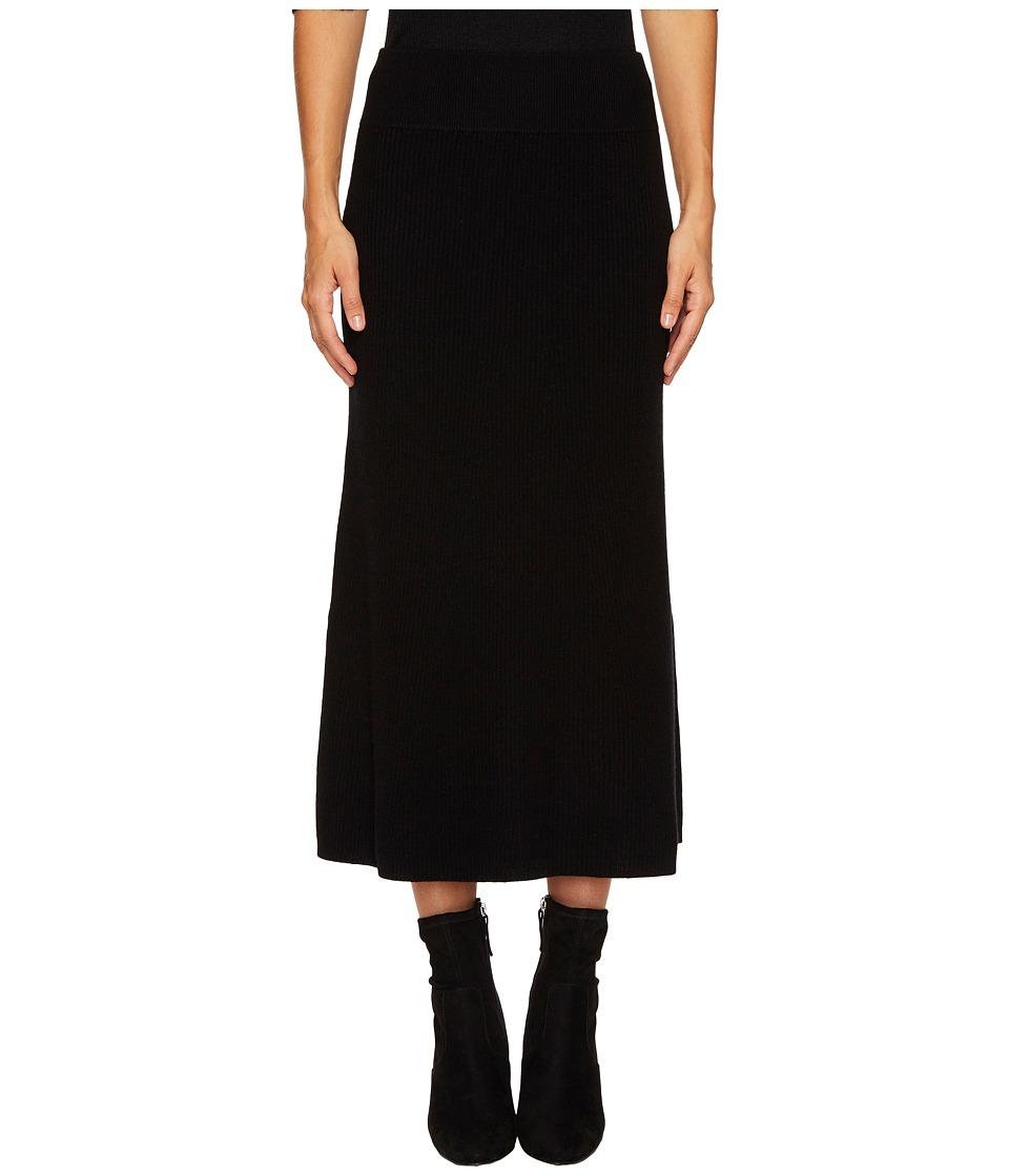 Cashmere In Love - Viva Knit Skirt (Black) Women's Skirt