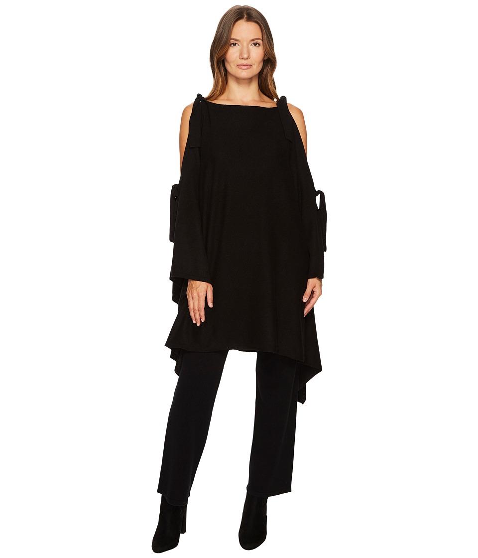 Cashmere In Love - Venice Cape/Cardigan (Black) Women's S...