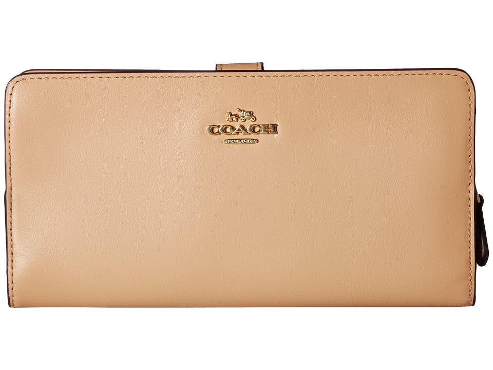 COACH - Skinny Wallet in Smooth Leather (LI/Beechwood) Wallet Handbags