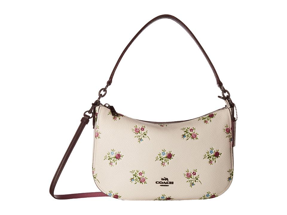 COACH - Chelsea Crossbody in Cross Stitch Floral Print (Dk/Chalk Cross Stitch Floral) Cross Body Handbags