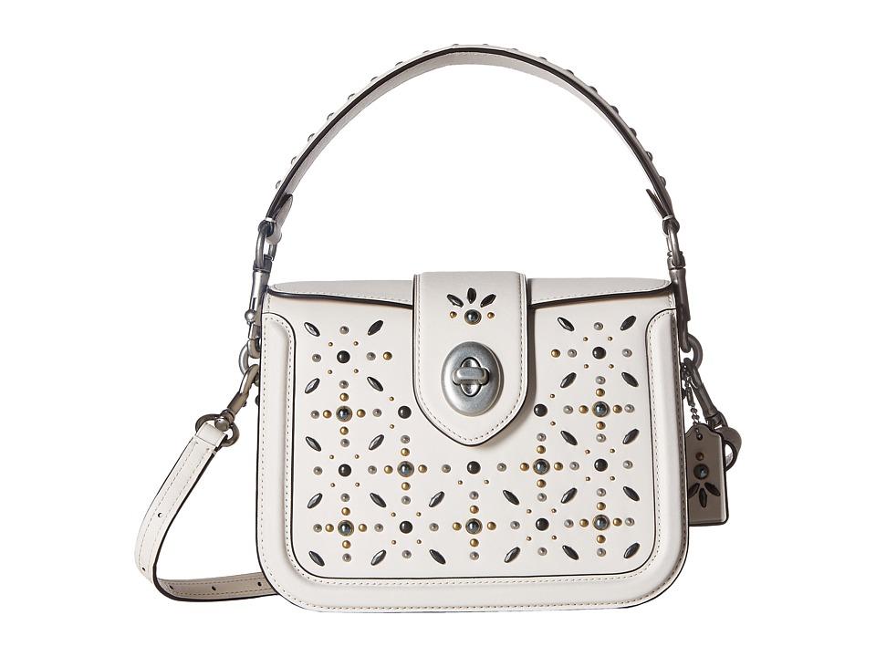 COACH - Page Crossbody with Prairie Rivets (Lh/Chalk) Cross Body Handbags
