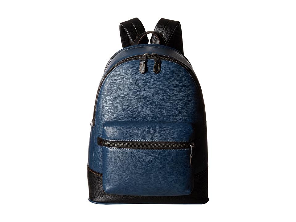 COACH - League Backpack in Glovetan Pebble (Dark Denim) Backpack Bags