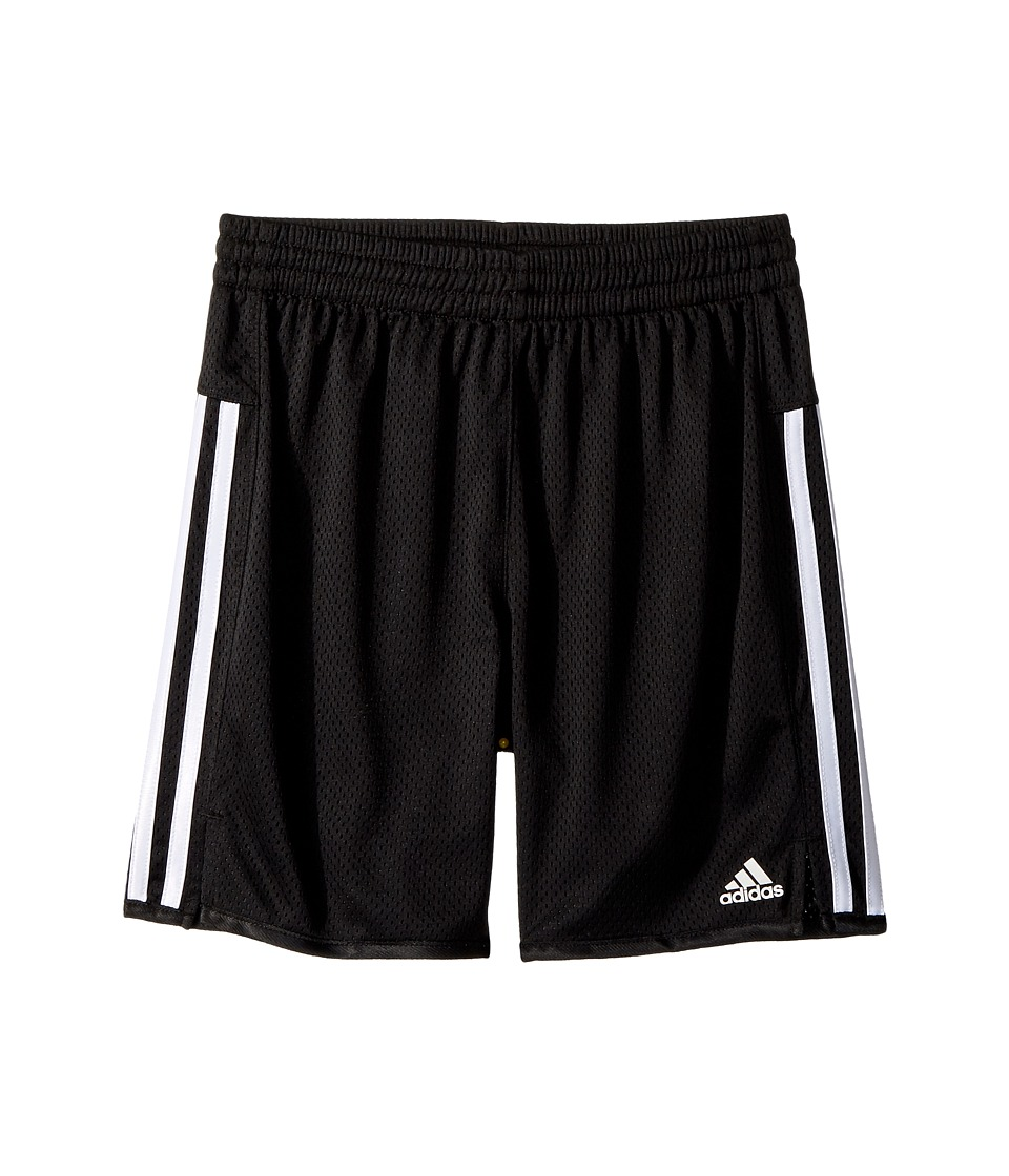 Image of adidas Kids - 5 Mesh Shorts (Big Kids) (Black) Girl's Shorts