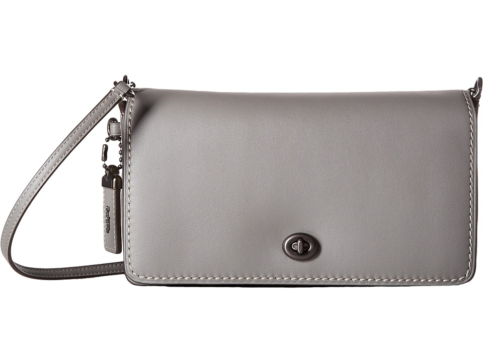 COACH - Dinky in Glovetanned Leather (Bp/Heather Grey) Handbags