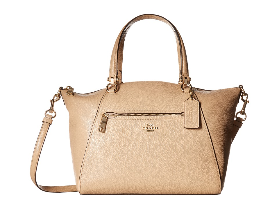COACH - Pebbled Prairie Satchel (LI/Beechwood) Satchel Handbags