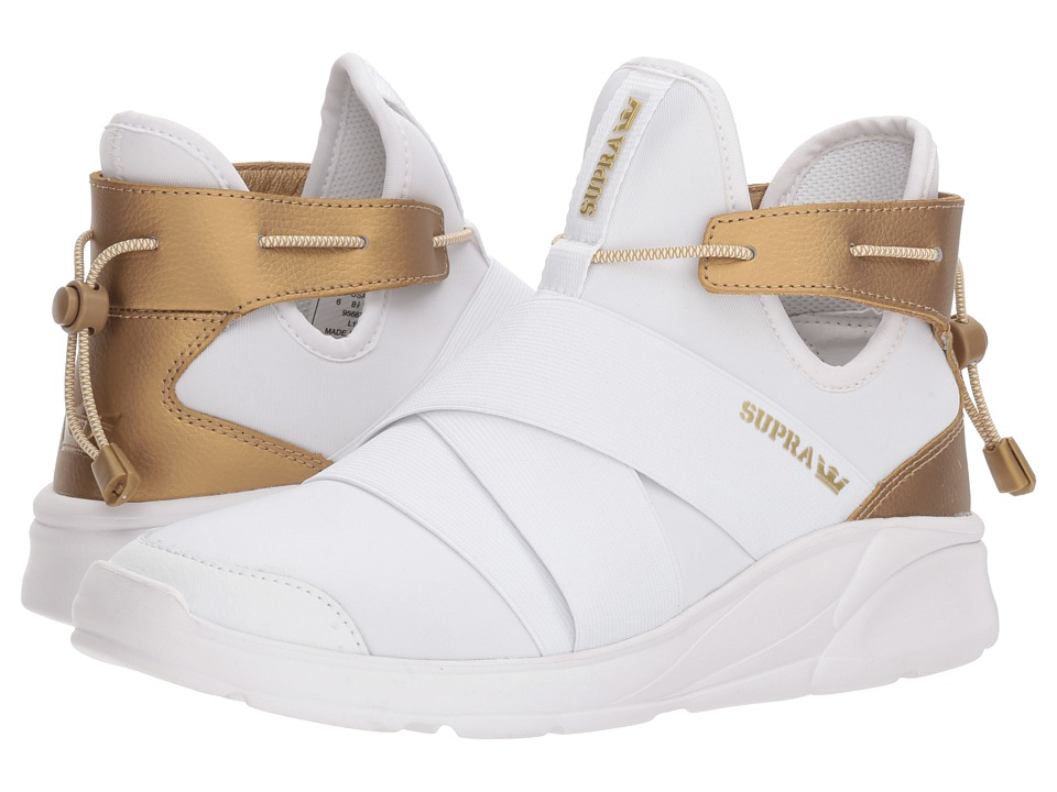 Supra Anevay (White/Gold/White) Women's Skate Shoes
