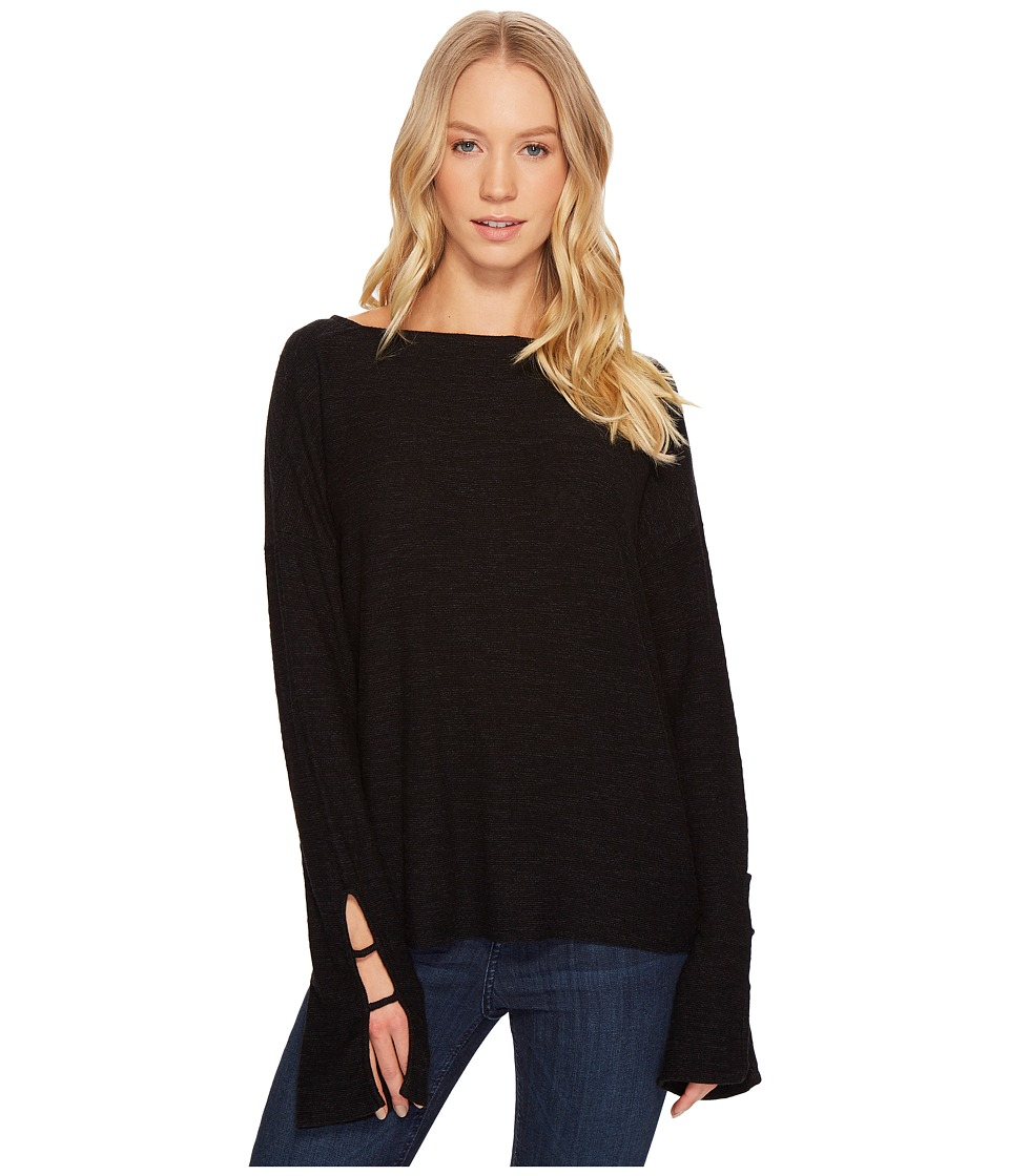 Project Social T - Stevie Bell Sleeve Top (Black) Womens Long Sleeve Pullover