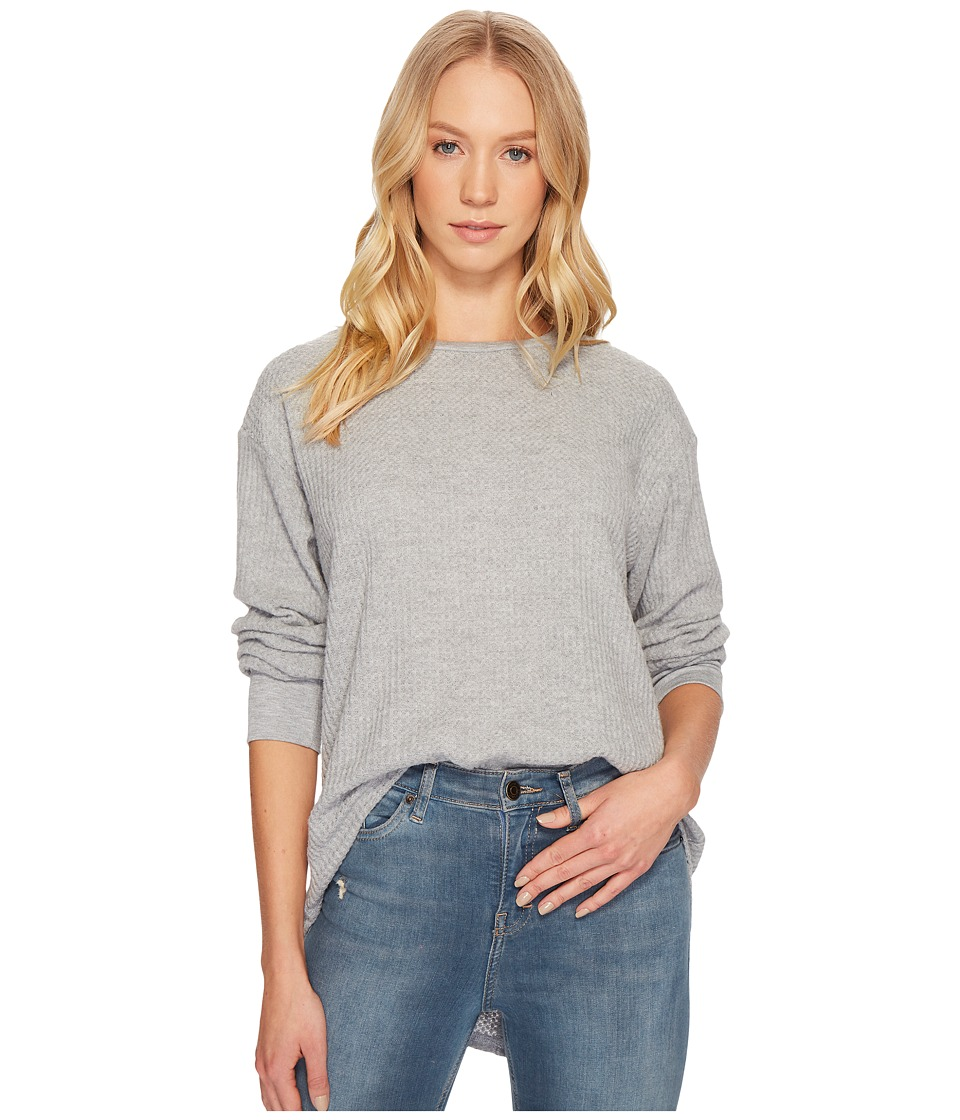 Project Social T - Sweet Low Long Sleeve Top (Heather Grey) Womens Long Sleeve Pullover