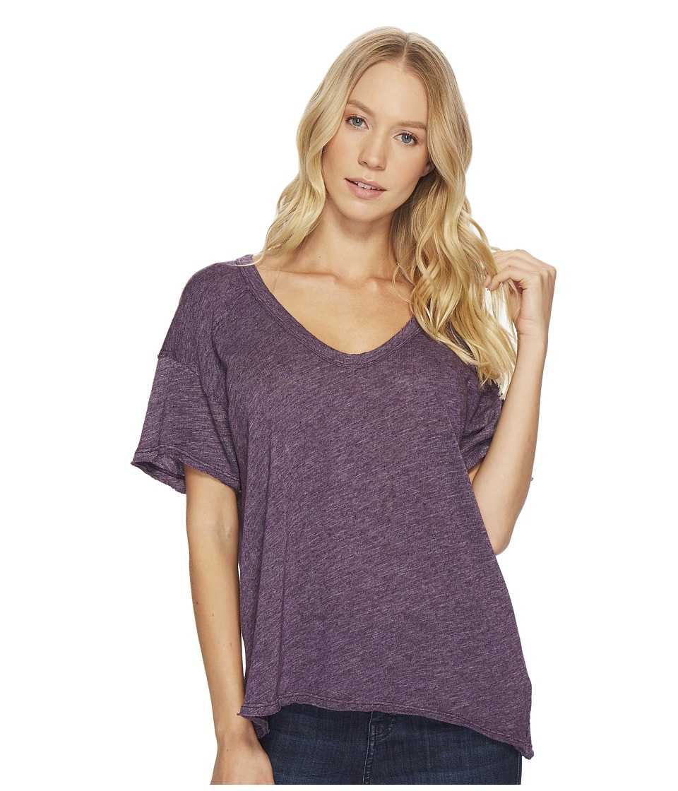 Project Social T - Tori U-Neck Tee (Glam Grape) Womens Short Sleeve Pullover