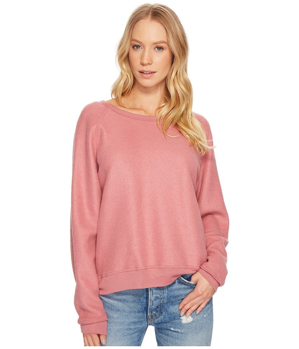Project Social T - Be the One Raglan Top (Velvet Blush) Womens Long Sleeve Pullover