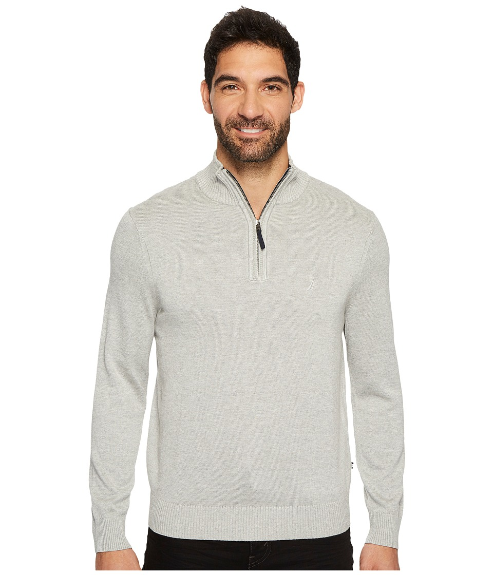 Nautica 12GG 1/4 Zip Jersey (Grey Heather) Men