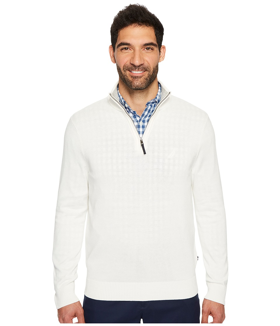 Nautica 12GG 1/4 Zip Jersey (Marshmallow) Men