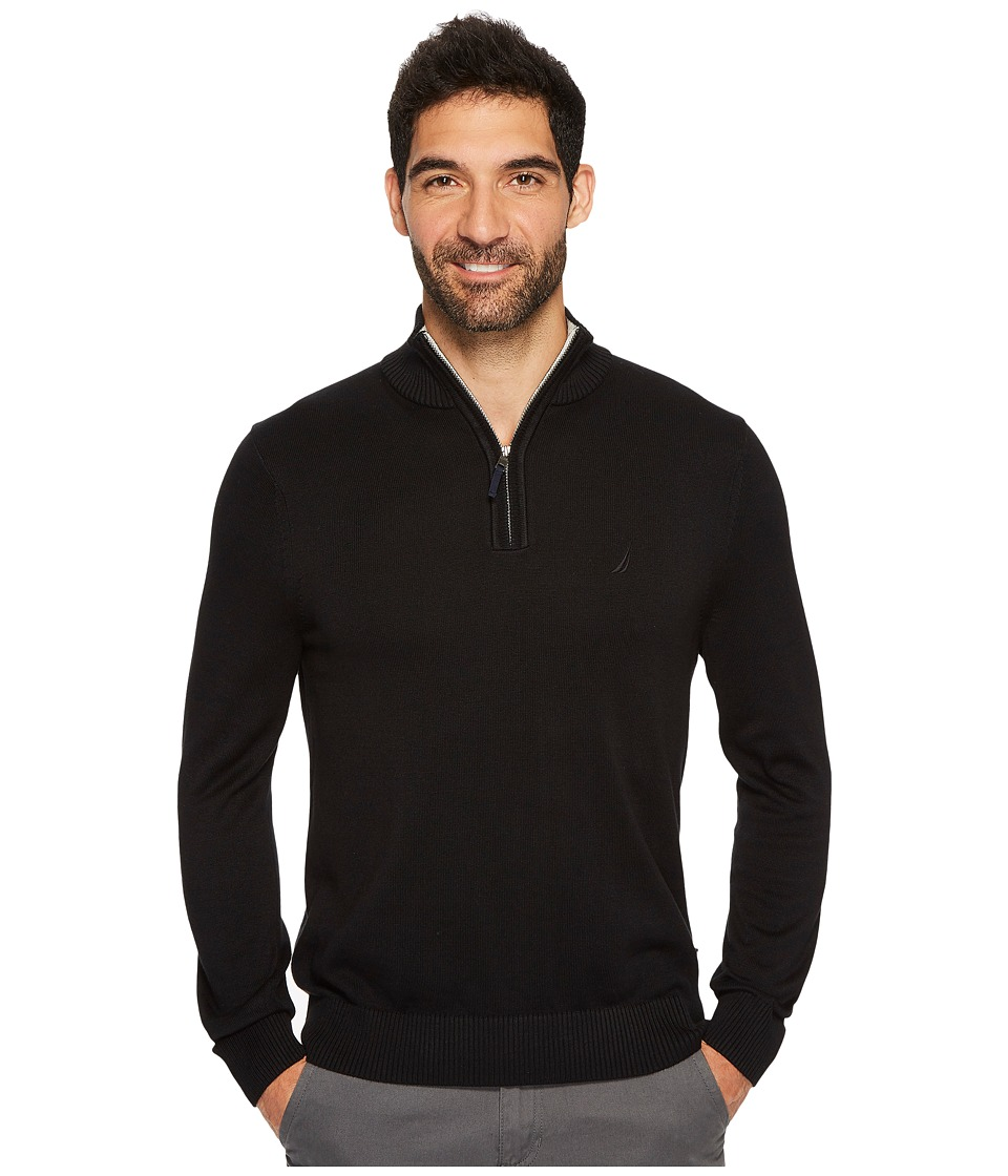 Nautica 12GG 1/4 Zip Jersey (True Black) Men