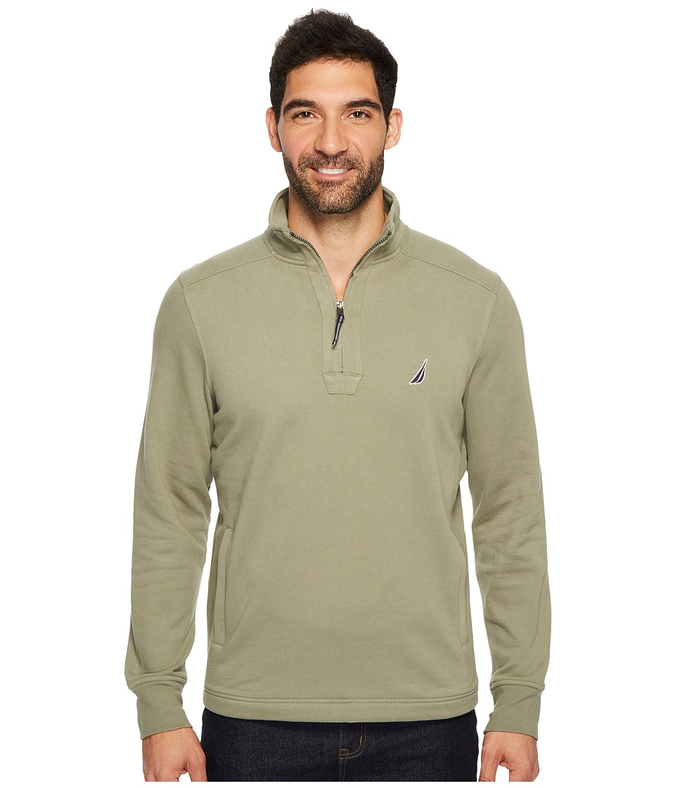 Nautica Long Sleeve 1/4 Zip Sweater (Sage) Men