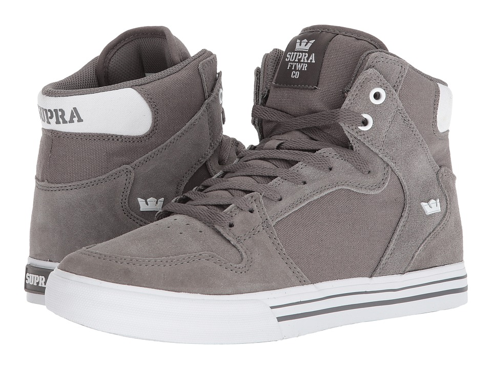 Supra - Vaider (Charcoal/White) Skate Shoes