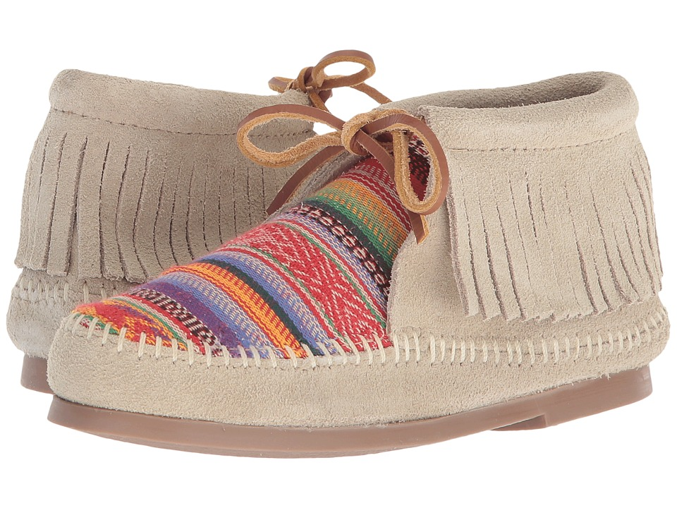 Minnetonka Kids - Frisco (Toddler/Little Kid/Big Kid) (Stone Suede) Girls Shoes
