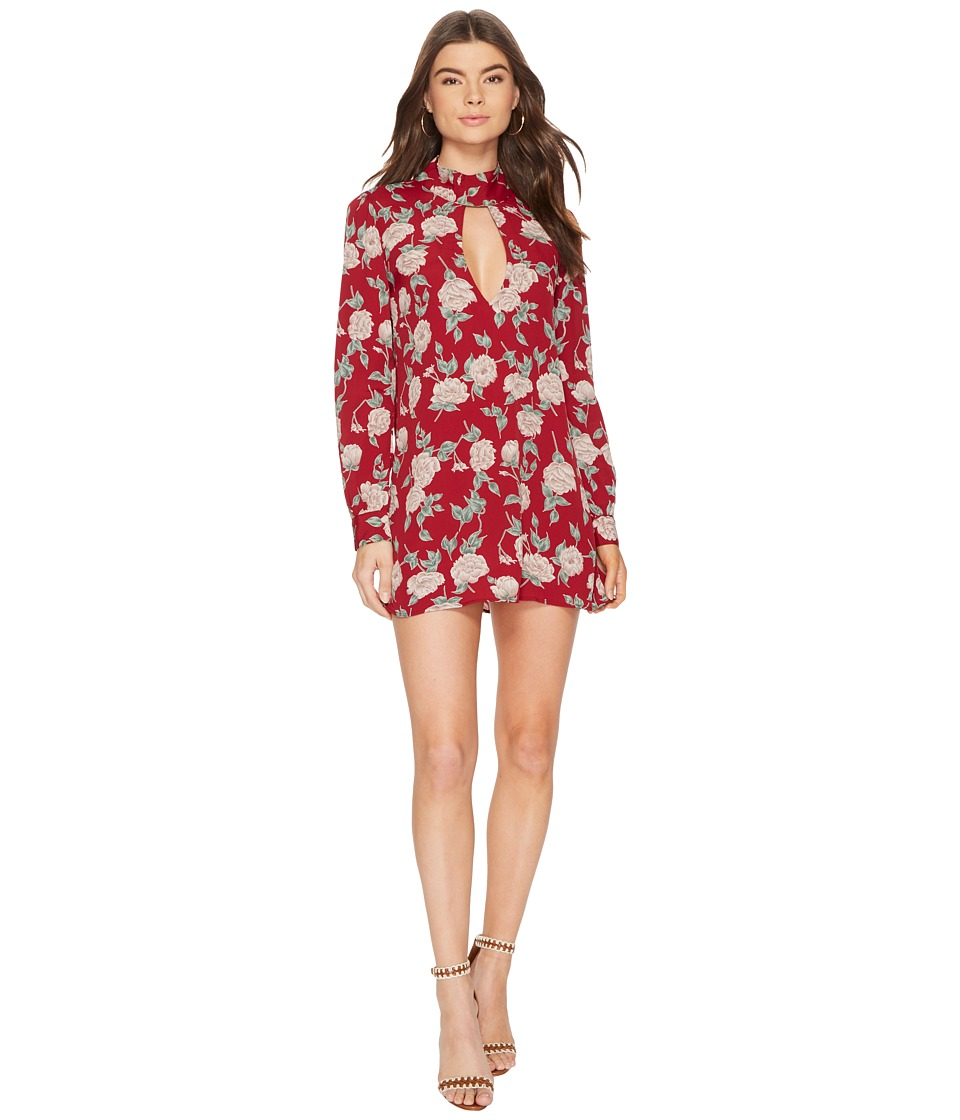Flynn Skye - Leah Mini Dress (Red Roses) Womens Dress