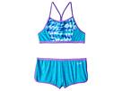 Speedo Kids Digi Zigzag Heather Two-Piece Boyshorts Swimsuit Set (Big Kids)