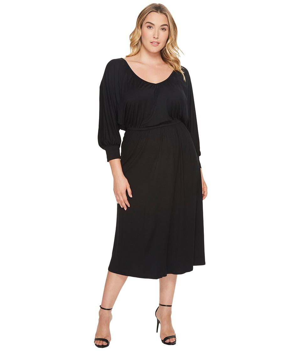 Rachel Pally Plus Size Tanga Dress (Black) Women