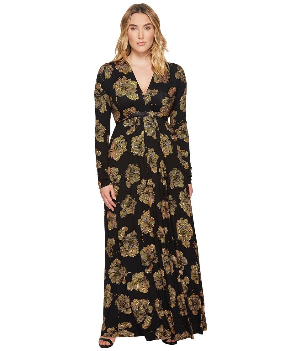 Rachel Pally Plus Size Long Sleeve Full Length Caftan (Matilija) Women